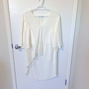 Zara TRF Collection V-Neck High Low Blouse M